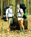 Pat on a Backpacking Trip Long Ago